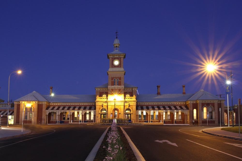 Train Station at Dusk